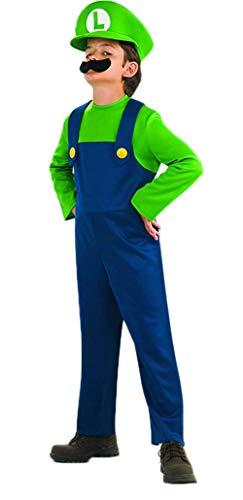 Mario And Luigi Halloween Costumes For Babies (Riekinc Super Costume Kids Brothers Classic Halloween Cosplay Costume Kids Small)