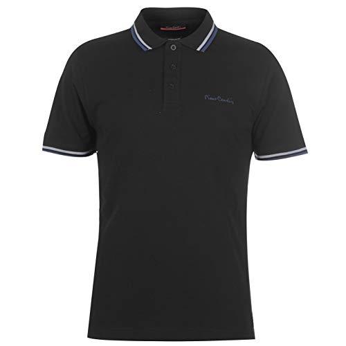 Pierre Cardin Mens Tipped Polo Shirt Short Sleeve Collar Black 4XL
