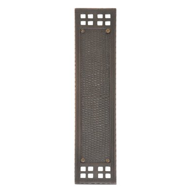 BRASS Accents A05-P5350-613VB Arts & Crafts Push Plate, Venetian Bronze