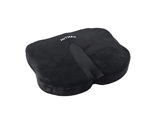 MITMAH Chair Seat Cushion Pad Memory Foam, Non-Slip Orthopedic Pillow for Car, Kitchen, Office Chair, Wheelchair, Computer and Desk Chair- Relief Back, Tailbone & Sciatica Pain