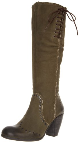 FLY London Women's Ava Knee High Boot,Green,38 EU/7-7.5 M US