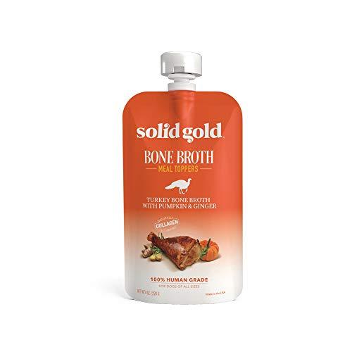 (Solid Gold Turkey Bone Broth Pumpkin & Ginger Dog Food Topper, 8 Oz - 12 Pack )