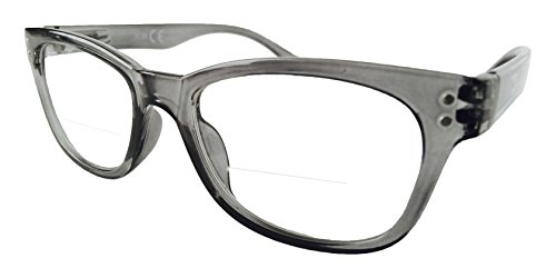 The Bifocal Reader WAYFARER Bifocal Reading Glasses (+2.00, Clear - Bifocal Non Prescription Glasses