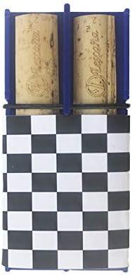 Blue Soprano Saxophone Checkered Rockin Reed Holder by Lescana Reeds