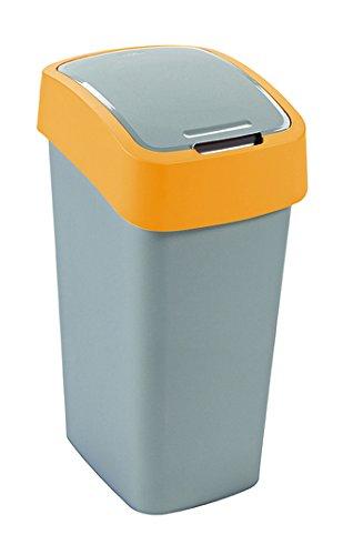 Curver Flip Bin Pattumiera con coperchio basculante 50litri Argento/Arancione