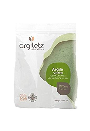 Argiletz Ultra-ventilated green clay 300g / 10.58 oz. Sourced and produced in France. Finest grade of clay.