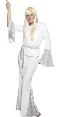 Disfraz de Años 70 Abba Blanco mujer: Amazon.es: Juguetes y juegos