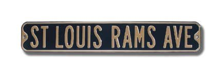 St. Louis Rams Ave Street Sign by The Outfield