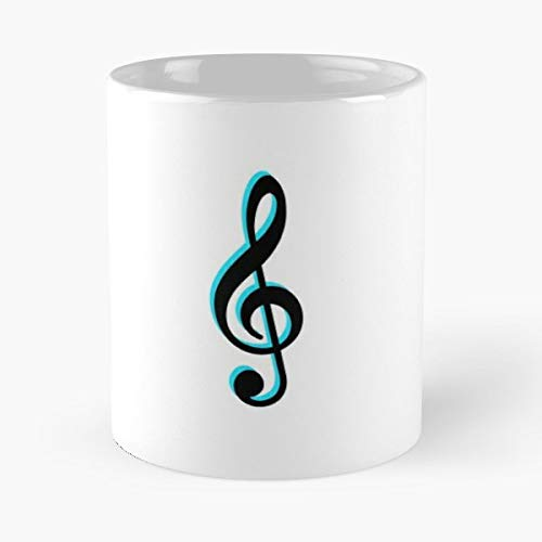 Music Note Electric Guitar - 11 Oz Coffee Mug- Unique Holiday Gift.