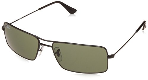 Ray-Ban UV Protected Oversized Men's Sunglasses – (0RB3305I00258|58|Crystal Green Color)