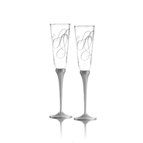 Mikasa Love Story Crystal Champagne Flutes, Set of ()