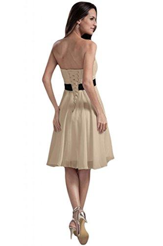 sunvary Vintage Stretch Satén una línea Prom Pageant vestidos para mujer Nuevo Elegante champán