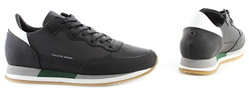 Philippe Model Scarpe Sneakers Uomo Paris Paradis Metal Noir New Made in Italy