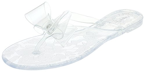 ies Jelly Bow Flip Flop Clear 9 ()
