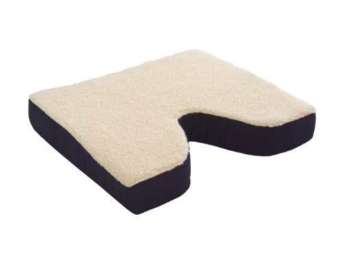 (Essential Medical Supply Fleece Covered Coccyx Cushion, 16 Inches X 16 Inches X 3 Inches)