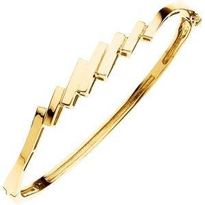 Bracelet Jonc en or jaune 14carats à charnière
