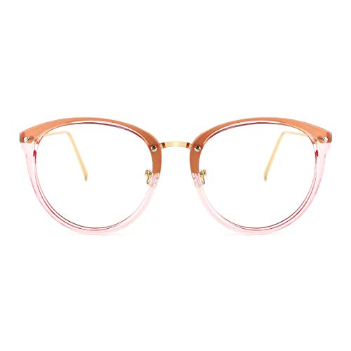 TIJN Blue Light Block Glasses|Round Optical Eyewear Non-prescription Eyeglasses Frame for ()
