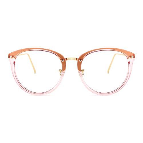 TIJN Blue Light Block Glasses Round Optical Eyewear Non-prescription Eyeglasses Frame for Women ()