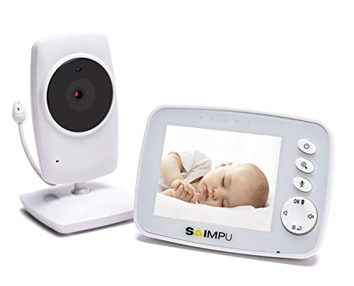 Baby Monitor-3.2 Inch Video Baby Monitor with Camera and Audio for Baby Nursery,Support Multi Camera,Two Way Talk,Temperature Sensor,Built-in Lullabies