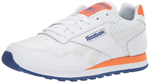 (Reebok Men's Classic Harman Run Shoe, White/Cobalt/Orange/Grey, 11.5 M US )