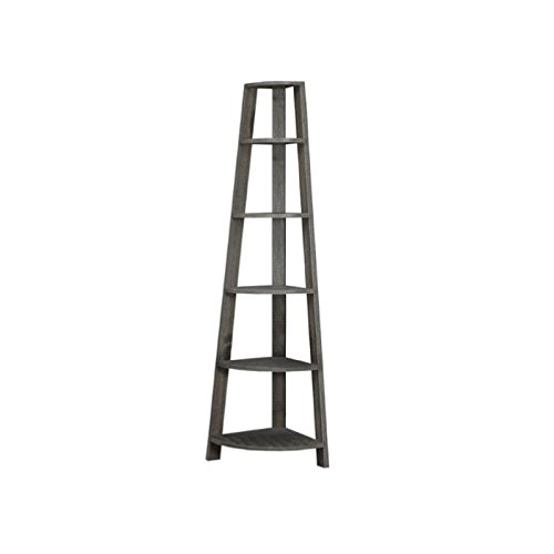 Pemberly Row Corner Accent Etagere in Dark Taupe