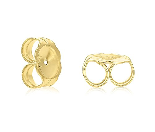14k Yellow Gold 6mm Polished Ball Stud Earrings with Secure and Comfortable Friction Backs by Art and Molly (Image #1)