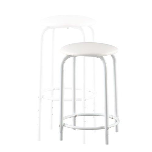 Southern Enterprises Amberson Desk/Stool Set, White