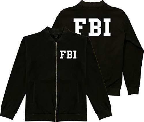 Kings Of NY FBI Law Enforcement Costume Mens Cotton Bomber Jacket Large Black -