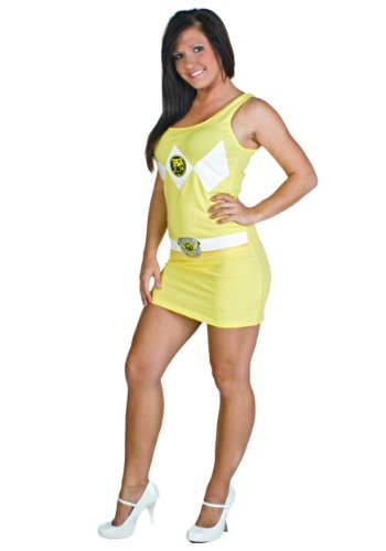 Power Rangers Costume Tank Dress Yellow (Small)]()
