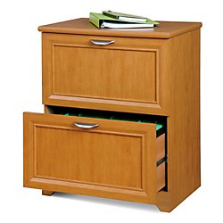 Realspace(R) Magellan Collection 2-Drawer Lateral File Cabinet, 30In.H X 23 1/2In.W X 16 1/2In.D, Honey (Honey Maple Drawer)