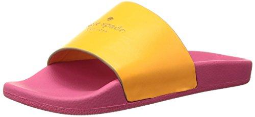 Kate Spade New York Womens Summer Slide Sandal Orange Leather