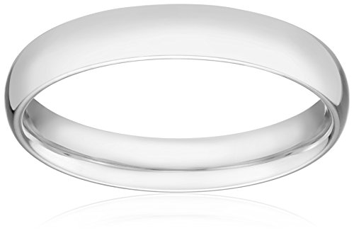 Standard Comfort Fit Palladium Wedding Band, 4mm