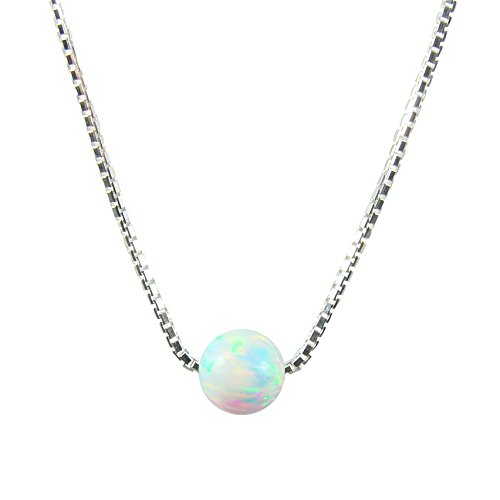 White Sterling Silver Necklace Little product image