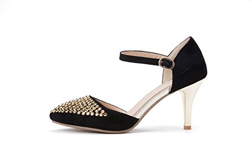 Rivet Toe Sandals Frosted 1TO9 Ladies Pointed Black Studded qnw1zTREz