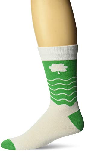 Two Left Feet Unisex-Adults Novelty St. Patrick's Crew Sock