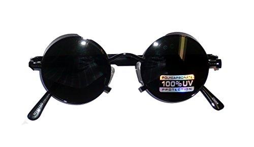 2441/95 (Antique Black) Lennon Style Steampunk - Lennon Style Glasses Steampunk