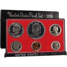 1976 S Proof Set Original Box 6 Coins Type 2 Eisenhower Ike Dollar US ()