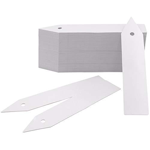 (KINGLAKE 200 Pcs Plastic Plant Nursery Garden Labels Pot Marker Garden Stake Tags Grayish White)