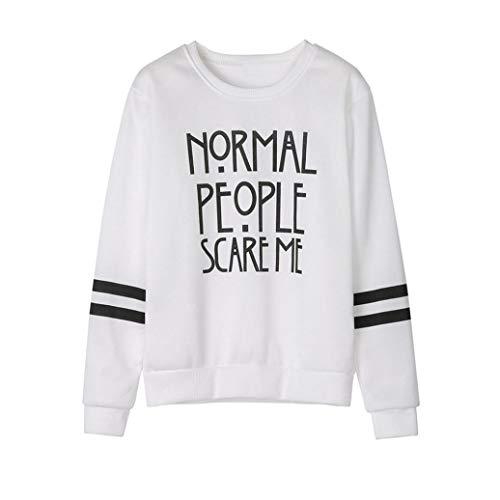 URIBAKE Women Long Sleeve Blouse Letter Print Sweatshirt Pullovers Tops from URIBAKE