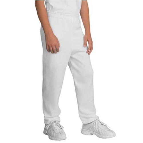 Port and Company Youth Sweatpant, White, Medium ()