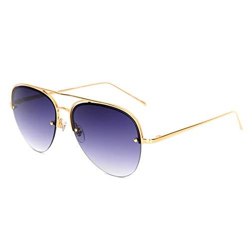 Sol la Gold Color Metal Lens señoras del de Yellow Gafas Gold de Sakuldes Las Gray la Puerta Frame polarizadas Hombres Marco Lente los de UV400 de 100 del de Lens Frame de qgEWa8SwW