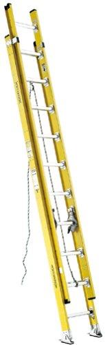 Werner D7128-2 375-Pound Duty Rating Fiberglass D-Rung Extension Ladder, - Ladders Fiberglass Feet 28