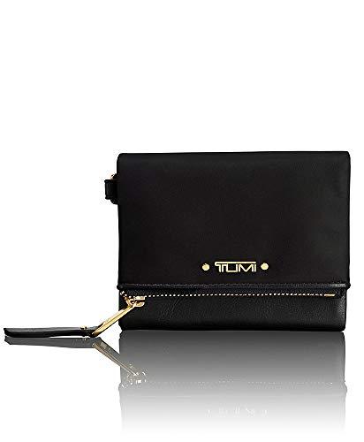 TUMI Voyageur Flap Card Holder Case,Compact Wallet for Women,Black