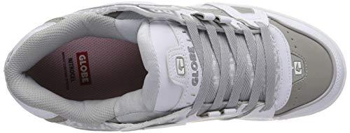 Chaussures De gum Garçon 11674 Blancwhite Globe Sabre grey Skateboard MqVSpGUz