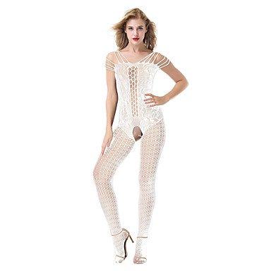 MENRY Costumes Vêtement de nuit Femme, Bretelles Fines Extra transparent Nylon Spandex Noir Rouge Rose Claire Violet Fuchsia , one-size
