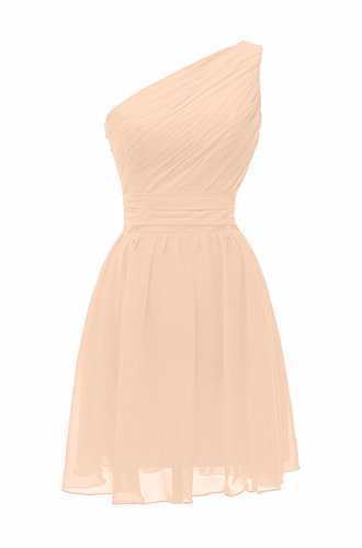 Dresses Shoulder Bridesmaid Prom Short ThaliaDress One T195LF Champagne Evening Gowns 7qv6OXRw