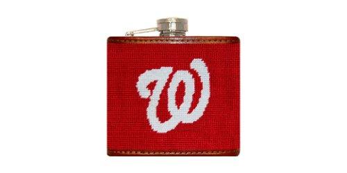 Smathers & Branson MLB Hand-Stitched Needlepoint Flask - Washington Nationals (Flask-Nationals) -