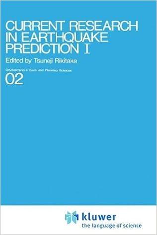 Current Research in Earthquake Prediction Vol I: Tsuneji