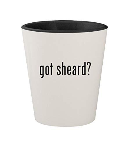 got sheard? - Ceramic White Outer & Black Inner 1.5oz Shot Glass