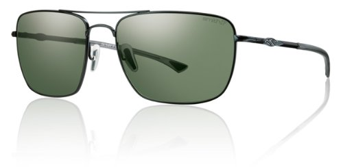 Smith Nomad Sunglasses - Polarized Matte Black/Gray Green, One Size